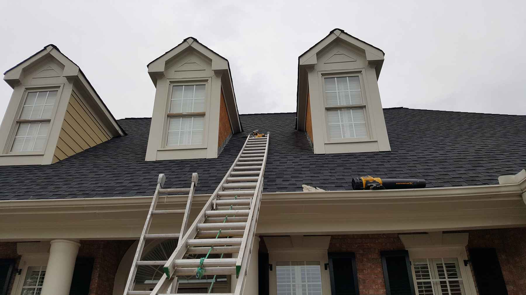 Siding replacement - before