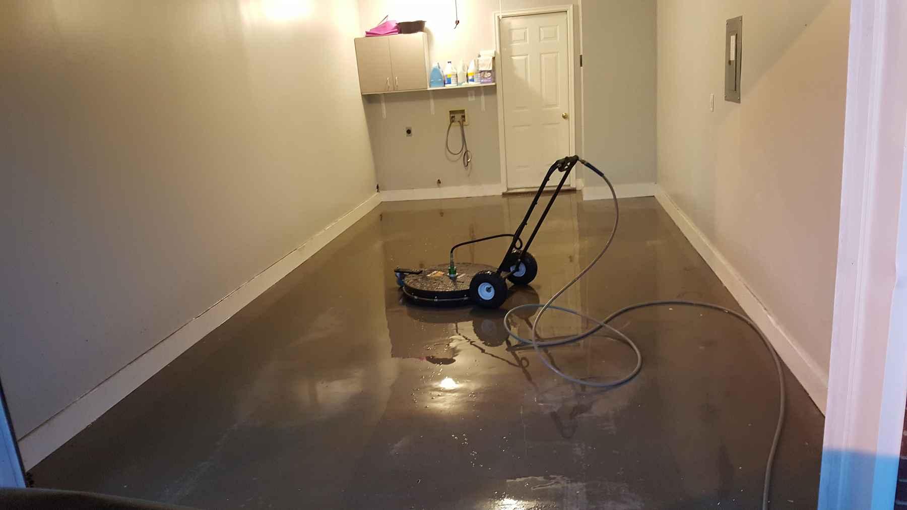 Garage Floor Coating: Before