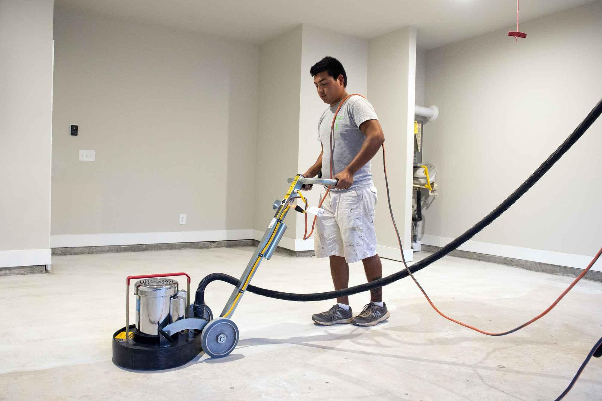 Granite Grip Floor - In Progress