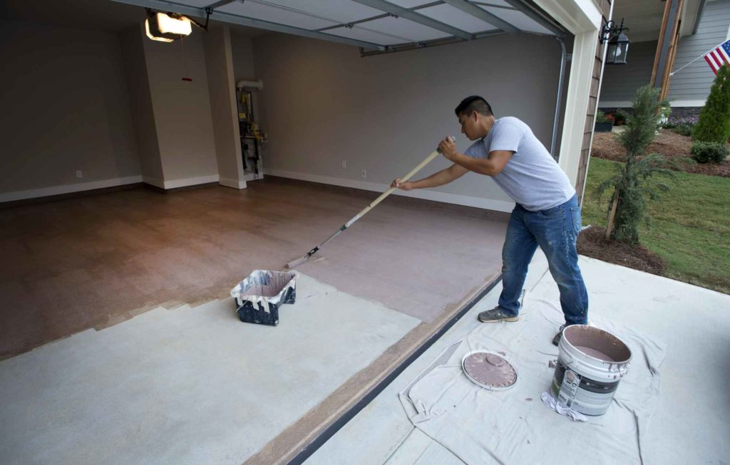 roll floor garage epoxy floors out feature menards kit armor granite
